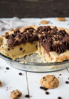 Chocolate Chip Cookie Dough Pie {Schokostückchen Keks Teig Kuchen} - Meine Küchenschlacht