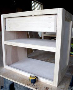 How to build a nightstand bedside table - full tutorial and free furniture plans!