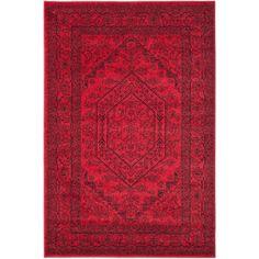 Safavieh Cyprus Red Area Rug ($90) ❤ liked on Polyvore featuring home, rugs, safavieh rugs, safavieh area rugs, red rug, red area rugs and bright red area rug