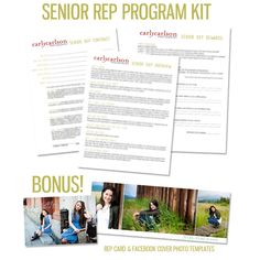 Want to be a senior photographer? Gotta start with a SOLID Rep Program! This is a time-tested program with all the kinks worked out for you - get it right the first time and see your senior biz grow immediately!     http://carlycarlsonphotography.bigcartel.com/product/senior-rep-program-kit #senior #seniorpictures
