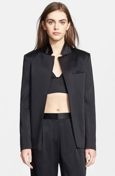 Alexander Wang Women's T Stretch Satin Open Blazer   Jacket, Coat and Clothing