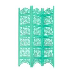 Butterfly Home by Matthew Williamson Designer turquoise carved wood partition screen- at Debenhams.com