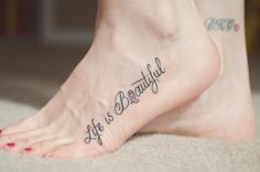 Breast cancer tattoo.