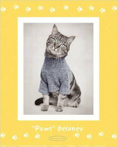 Paws' Delaney' - Poster by Rachael Hale (8x10) Title: Paws Delaney by Rachael Hale. Paper Size: 8 x 10 inches. Image Size: 8 x 10 inches.  #EuroGraphics #Home