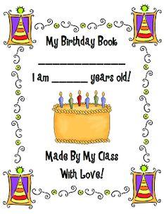 Class Birthday Book FREEBIE!