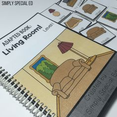 Life Skills Adapted Books - Simply Special Ed Fun At Work, Life Skills, Preschool, Student, Concept, Books, Living Room, Home, Libros