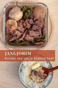 Jangjorim is a soy sauce braised beef Korean side-dish. It's one of the most popular banchans (side dishes) and is perfect for an easy but delicious weeknight meal or lunch box. Entree Recipes, Appetizer Recipes, Cooking Recipes, Cooking Ideas, Food Ideas, Korean Food, Korean Recipes, Korean Menu, Cooking Hard Boiled Eggs