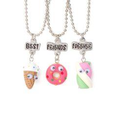 Best Friends Sweets Pendant Necklaces Set of 3
