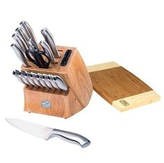 Just as an insignia is the mark of military rank, Insignia Steel cutting tools are the mark of a pro. This 19-piece Chicago Cutlery knife set has the knives that professionals rely on for accurate, efficient food prep. And, with a satin finish, the knives are pleasing to both the eye and the... - http://kitchen-dining.bestselleroutlet.net/product-review-for-chicago-cutlery-insignia-steel-19-piece-knife-block-with-in-block-sharpener-and-cutting-board-stainless-steel/