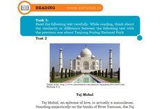 Terjemahan Teks Taj Mahal Chapter 4 Task 1 Halaman 58-59 (Reading) Kelas 10