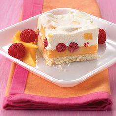 Mango Raspberry frozen dessert-This is so very yummy, all my fav ingredients!