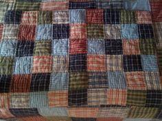 Quilt made from men's shirt.