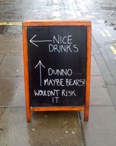Simple effective! #sign #signage #marketing #graphic #directional #wayfinding #store #shop #retail #bar #restaurant #popup #popupstore #creative #personality #funny #drinks #ad #store #3peconsulting