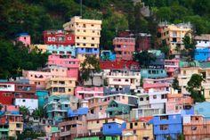 On-Site Haiti: Bright, Colorful Signs of Progress in the Slums Above Pétionville Around The World In 80 Days, Travel Around The World, Around The Worlds, Haiti Tattoo, Art Haïtien, Haiti And Dominican Republic, Caribbean Culture, Royal Caribbean, Port Au Prince