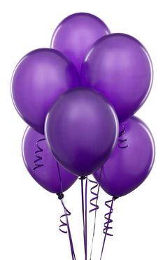 Purple balloons are nice