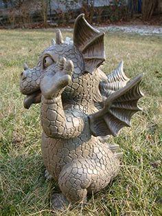 Garden figure Garden dragon Pulling Faces: Amazon.co.uk: Garden & Outdoors