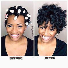 New hairstyles black hair perm rods ideas - Hair Black Hair Perm, Short Permed Hair, How To Curl Short Hair, Permed Hairstyles, Hairdos, Quick Hairstyles, Protective Hairstyles, Natural Hair Care, Natural Hair Styles