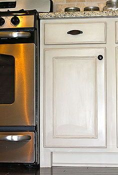 chalk painted kitchen cabinets, cabinets, design d cor, kitchens, ASCP in Old White with Clear Wax and distressing