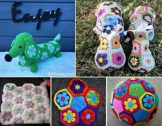 African Flower Crochet - Lots of FREE Patterns in our post.