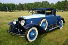 """1929 Cadillac 341-B Convertible Coupe - Founded in 1902 by Henry Leland, Cadillac became the """"Standard of the World"""" when it won the Dewar Trophy in 1908 for its use of interchangeable parts making mass production possible. Bought by General Motors in 1909 Cadillac has survived w/ Buick as one of the oldest car manufacturers in the U.S. This car has a 90 bhp, 341 cu. in. L-head V-8 engine w/ three-speed selective synchromesh manual transmission,"""