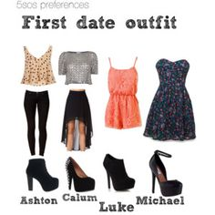 5SOS Outfits Idea | the black dress he buys you (5sos preference)