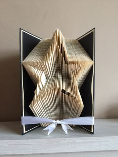 Book+Folding+Pattern, Book Art, Book Origami -Star outline by+ThePageTurnerCompany+on+Etsy
