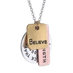 """Believe Necklace New """"believe"""" necklace. Silver, brass alloy. Chain is 20"""" Jewelry Necklaces"""