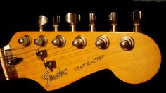 Guitar Wallpaper - Fender Stratocaster Electric Guitar Headstock Tuners Black Widescreen 1920x1080 ♫ Great Guitar Sound
