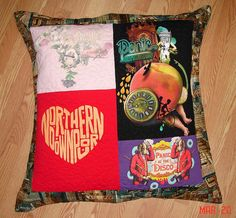 T-shirt Pillow by Breaux Bunch Quilts, via Flickr