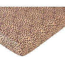 Cheetah Girl Fitted Crib Sheet for Baby and toddler Bedding Sets by JoJo - Cheetah Print baby crib sets for girls