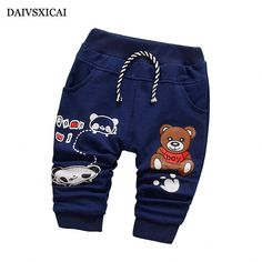 Daivsxicai Pants Cotton Boy Fashion Cute Cartoon Bear Baby Clothing Pants Baby All-Match Children Pants For Boys Month - Kid Shop Global - Kids & Baby Shop Online - baby & kids clothing, toys for baby & kid Baby Boy Leggings, Baby Tights, Toddler Leggings, Toddler Pants, Baby Pants, Boys Summer Outfits, Baby Boy Outfits, Kids Outfits, Fall Outfits