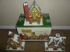 Big Christmas Advent Calendar 3 Piece Village Holiday Decoration Mint RARE | eBay
