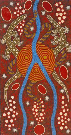 Lander River Dreaming II by Malcolm Jagamarra