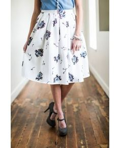 A line Floral Skirt - MSS6112