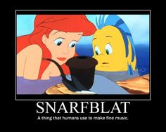Ariel's Snarfblat  It would be cute to have the dinglehopper and the snarfblat buried in the centerpiece sand!?  What do you think sista!? I can check my cartridges....