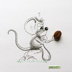 """Coffee or not coffee that is the question"" - Said Shakespeare in the morning when he was late for work... ☕️ --------------------------------------------- #apredart #rikiki #mouse #cartoon #coffee #coffeelove #coffeebean #morningcoffee #arts_gallery #sketch_daily #worldofartists #morning #artshub #artshare #nawden #art_daily #dailyarts"