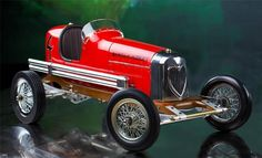 "Bantam Midget Red 1930s Tether Car Model 19"""