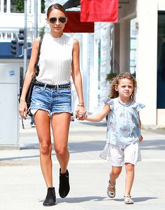 Nicole Richie with her daughter Harlow