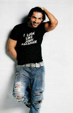 A page for describing Main: John Abraham. John Abraham, Tv Tropes, Shakeology, Ripped Jeans, Bollywood, Handsome, Celebs, T Shirts For Women, Boys