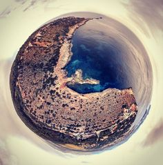 #phantom4 #dji #littleplanet #mallorca #eltoro #sea #mountain by kandykiddu