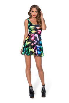 Jellyfish Rainbow Scoop Skater Dress (48HR) by Black Milk Clothing $85AUD