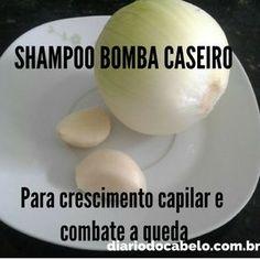 Como fazer um shampoo bomba com CEBOLA e ALHO para acelerar o crescimento capilar e combater a queda!! Realmente funciona, veja o passo a passo