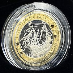 United Kingdom 2 Pounds The Mary Rose Ship Sailboat Silver Proof Coin 2011