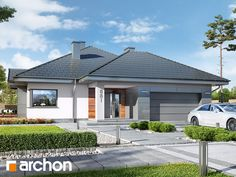 Dom w jonagoldach 5 My House Plans, Modern Bungalow, Interior Exterior, Home Fashion, Gazebo, Kitchen Design, Outdoor Structures, House Design, House Styles