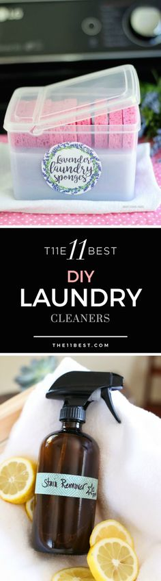 Want some alternatives to cleaning your clothes? Learn how to make 11 different types of DIY laundry cleaners at a fraction of the cost. From laundry detergent to dryer sheets, you'll want to add these to your laundry room cupboard!