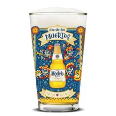 Modelo Especial Day Of The Dead Pint Glass Clear #ModeloEspecial
