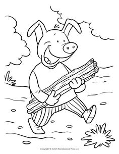little pig coloring pages - photo#27