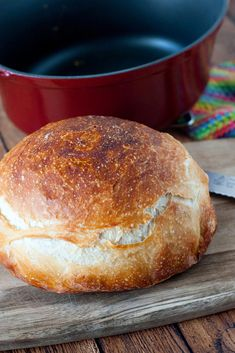 Because no holiday table is complete without chewy, crusty bread. This simple, no-knead bread only has four ingredients and is baked right in your Anolon® Vesta Cast Iron Dutch oven. Recipe developed by @hlikesfood