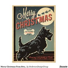 Merry Christmas From Atta-Boy Postcard