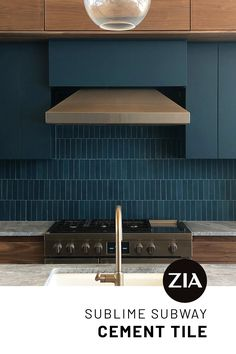 We're obsessed with this oh-so-chic install of our Midnight 2x8 cement tile. Dark, deep and moody – our matte-finished 2x8's are a modern twist on the humble subway tile. Diy Kitchen Cabinets, Kitchen Flooring, Craftsman Interior, Mid Century Modern Kitchen, Art Deco Home, Home Additions, Washroom, Modern Kitchen Design, Commercial Interiors